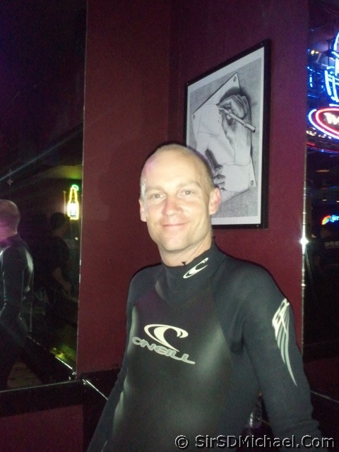 At Pecs Bar in my O'Neill Epic suit