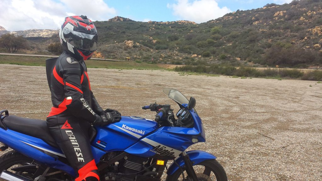 Dainese Laguna Seca suit and my Ninja 500R